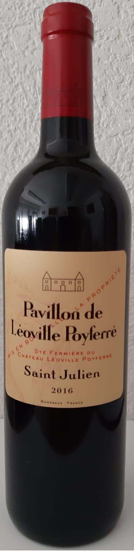 "Pavillon de Léoville Poyferré, St-Julien AC ""EN PROMOTION"" (James Suckling: 93/100) - 2016"